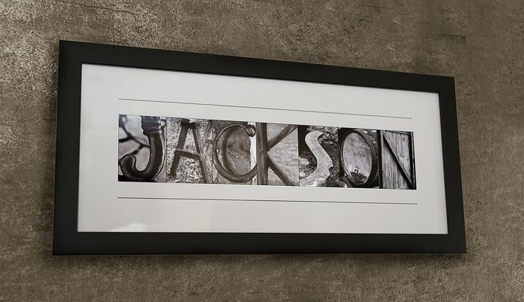 Alphabet letters photography framed personalized name