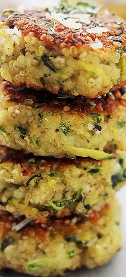 Zucchini fritters, Fritters and Quinoa on Pinterest