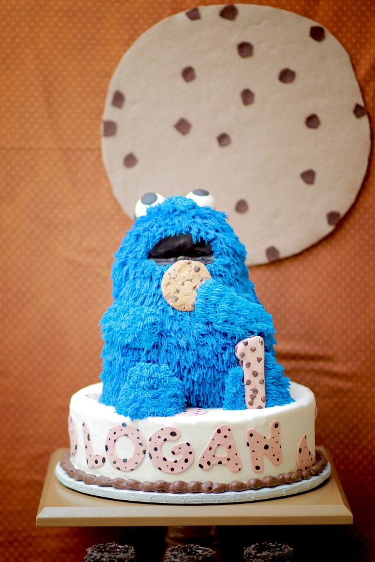 First Birthday Party- Cookies and Milk Feat Cookie Monster
