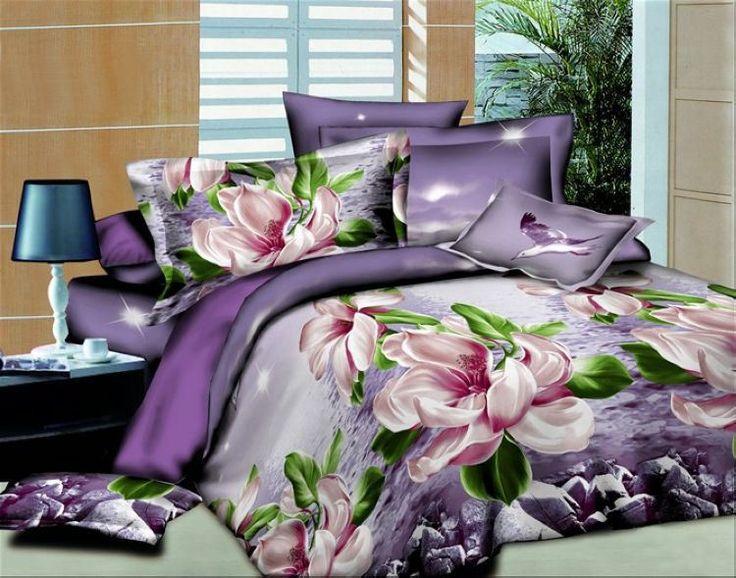 Frete grátis, teste padrão de flor de impressão 3D 3D Jogo do Fundamento, roupas de cama/folha de cama/duvet cover/roupa de cama, jogo de cama king size em Conjuntos de cama de Home & Garden no AliExpress.com | Alibaba Group