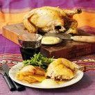 Pluras ugnsstekta kyckling med aioli, stekt potatis och skysås - Recept från Mitt kök - Mitt Kök