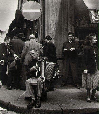 Robert Doisneau scènes de musique de Paris