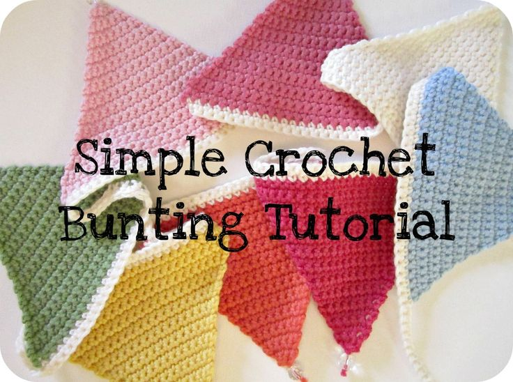 Make a nice string of flags as decorations!! Pink Milk: Simple Crochet Bunting Tutorial