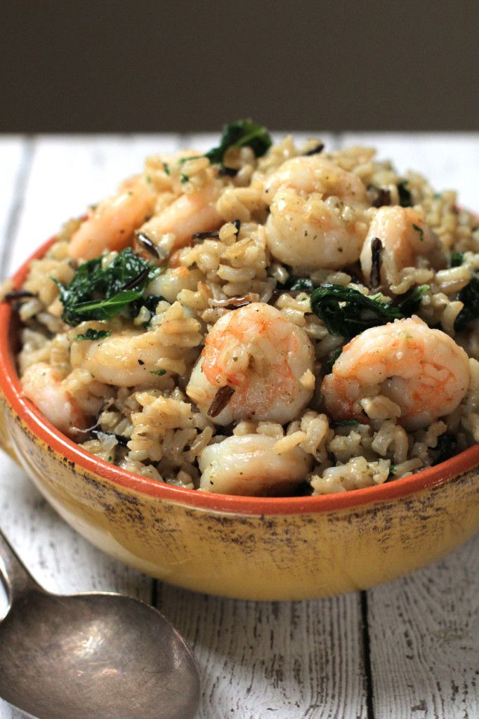 Shrimp, Kale, and Wild Rice Melody. A healthy, nourishing meal in under 30 minutes! | Live Simply