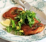 Whip up this recipe for Parmesan and Rosemary Pork Schnitzel in a flash