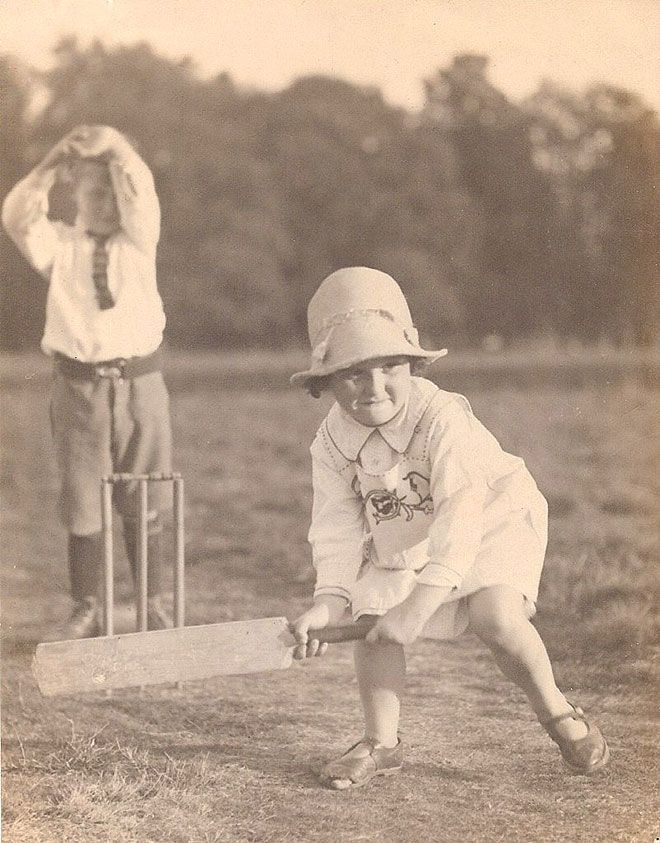 So sweet, her face is full of such determination and what a hat!