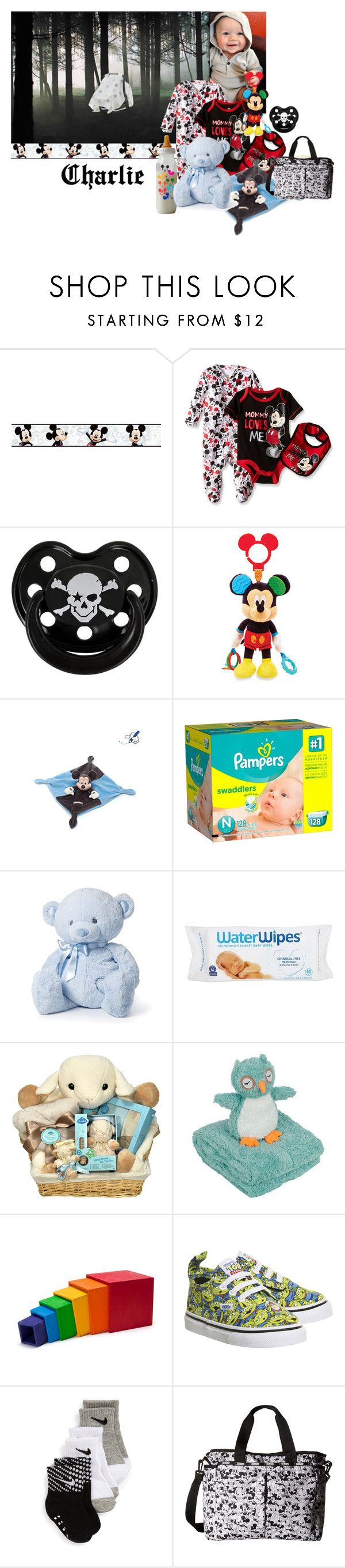 """""""Charlie left in the woods"""" by wonderland-junkie ❤ liked on Polyvore featuring York Wallcoverings, Disney, Rock Star Baby, Nat & Jules, Cloud B, Vans, LeSportsac, men's fashion and menswear"""