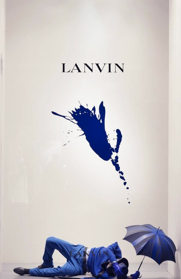 Lanvin's paint splattered window displays.   Great inspiration to think outside the box and create unique marketing concepts.