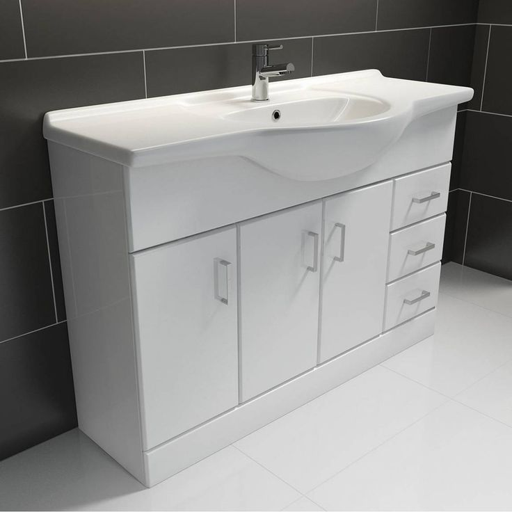 Sienna White 120 Vanity Unit & Basin PLUS Waste