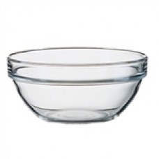 STACK EMPILABLE BOWL 60MM TUF GLASS  $1.03 Glass bowls perfect for bringing out sides and other small accessory portions.