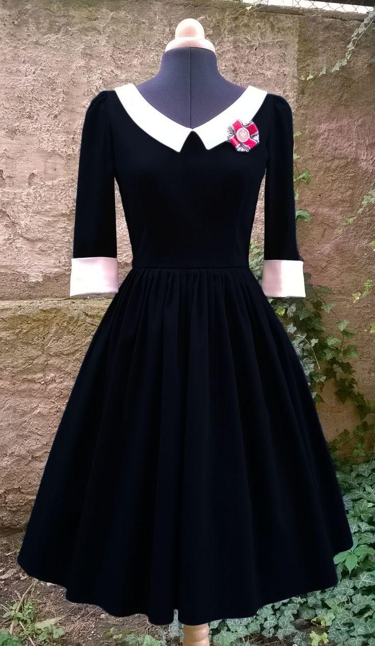 50s dress from Fler.cz. find more on http://www.fler.cz/zbozi/vivienne-saty-snimatelni-limec-a-manzety-5485536