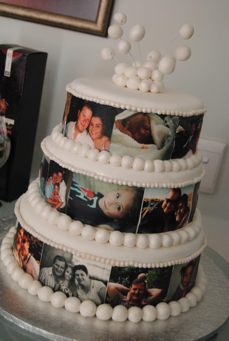 Stampe su cialde personalizzate www.decorazionidolci.it  Wedding anniversary cake