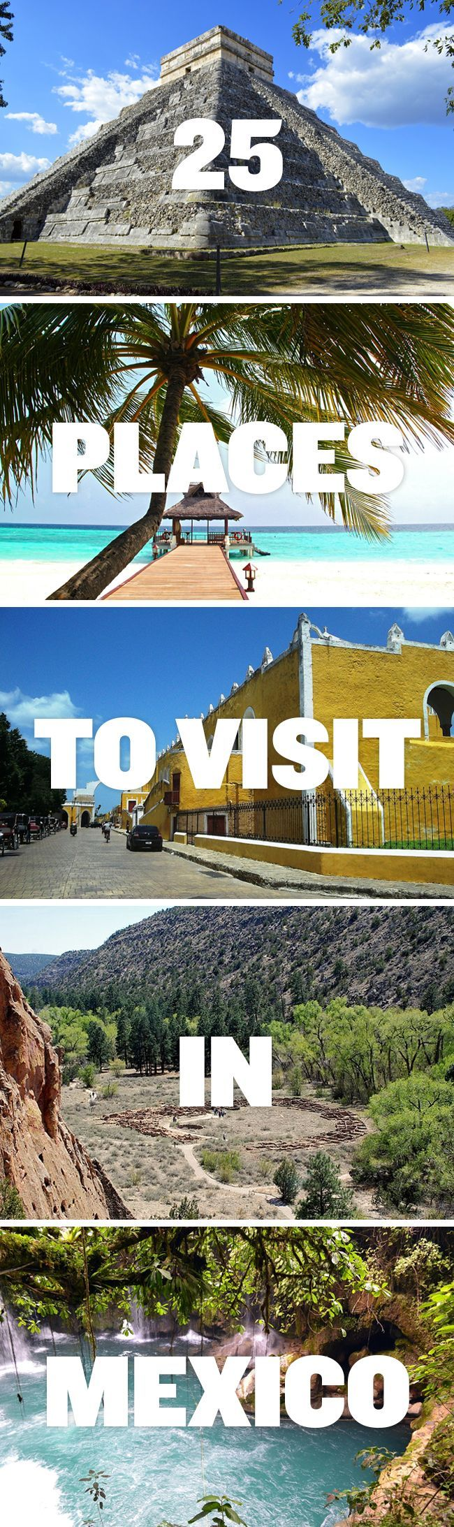 A Comprehensive List of Places to Visit in Mexico that will help you decide on where to go on your next vacation. Article from @roadaffair
