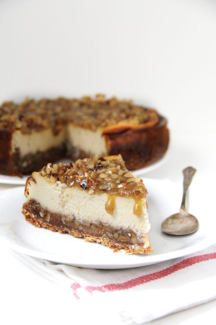 cheesecake cu nuci si caramel