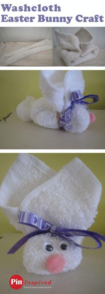 как сложить кролика из полотенца