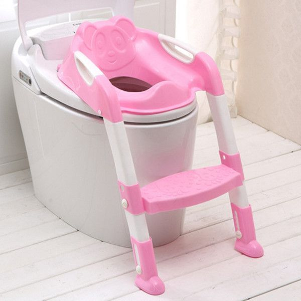 Baby Foldable Potty Kids Training Toilet Seat Anti-skid Toilet Seat Protable Travel Potty Training Safety Ladder Potty Chai