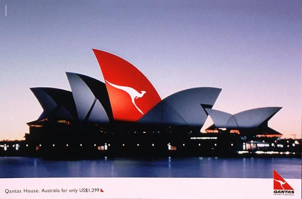 OPERA HOUSE, Qantas Airlines, Publicis Norton, Qantas, Print, Outdoor, Ads