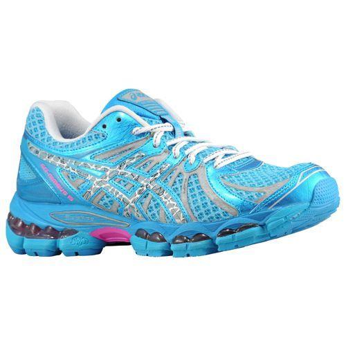 asics womens gel-nimbus 15 running shoe blue/lightning/pink