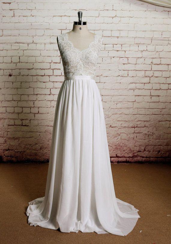 Lehnenlose Hochzeit Kleid Sexy Brautkleid Spitze von LaceBridal
