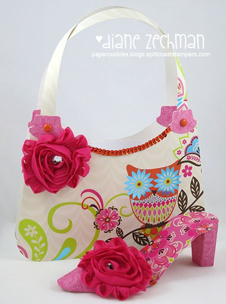Paper dresses, purses and shoes