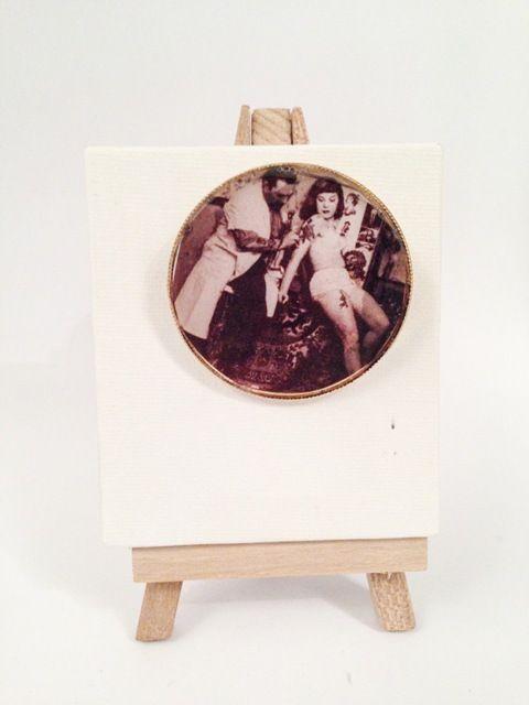 "pin love for vintage ""tattoo lady"". Find it at www.jamjar.gr"