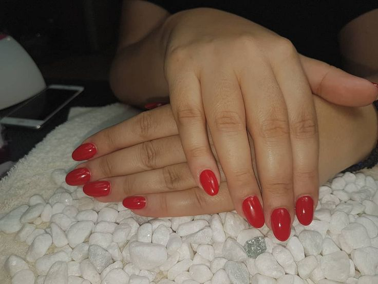 #nails #nagel #nagelfotos #red #oval #nails – Beste Nagelfotos