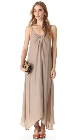 too sack like for bridesmaid dress? i thought it would look cool with wedges and chunky necklaces or bracelets or even cool headbands, plus its long