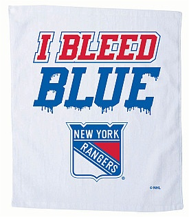 Wave this towel after each Rangers goal! Exclusive NY Rangers Rally Towel by Pro Towel Sports!