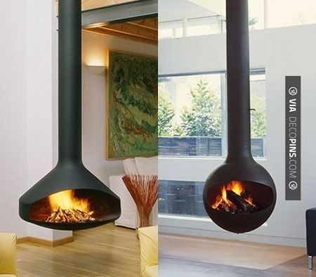 Like this! - these are wild! | CHECK OUT MORE FIREPLACE IDEAS AT DECOPINS.COM | #fireplace #fireplace #hearth #fireplaces #brickfireplace #firepit #fire #firewood #indoorfireplace #outdoorfireplace