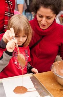 Kids can enjoy making their own chocolate bars  at Eden's Chocolate Unwrapped event this Easter.