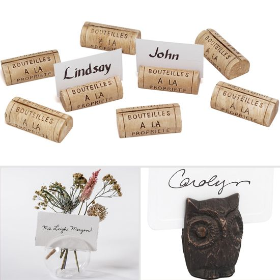 Place Card Holders Fit For Any Holiday Soiree