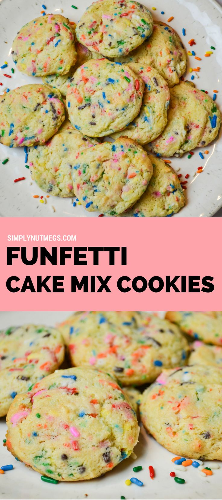 INSANELY DELICIOUS Funfetti Cake Mix Cookies!!!!
