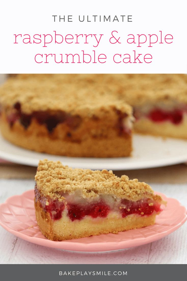 Raspberry & Apple Crumble Cake