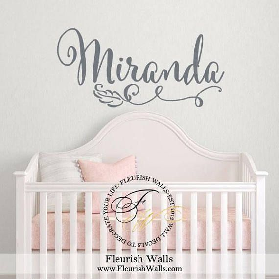 Girl Name Wall Decal Nursery Wall Decor Baby Girl Nursery  sc 1 st  Pinterest & The 25+ best Girls Name Wall Decals images on Pinterest | Name wall ...