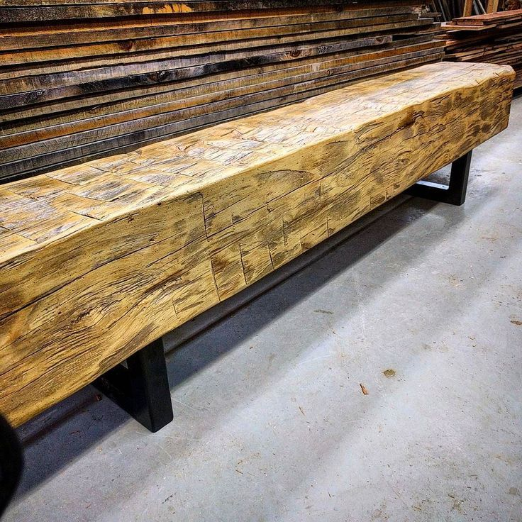 One of two matching giant barn beam benches ready for their new home in a condo lobby. These were really nice hardwood hand hewn beams we sanded and clear coated with a satin finish. They are mounted on some chunky black steel powder coated legs. Can't say we will miss moving them around the shop as they weigh a ton! #bench #barnboard #barnwood #barn #reclaimed #reclaimedwood #rustic #rusticwood #igers #toronto #hamilton #hamont #tdot #the6ix #905 #cottage #muskoka #decor #loft #condo #GTA…