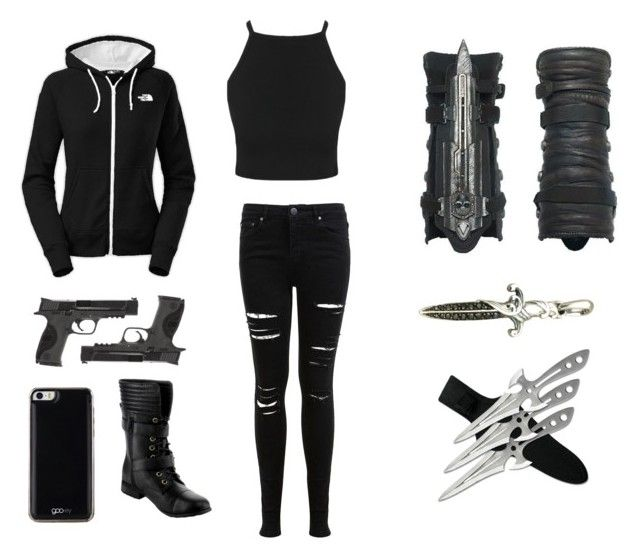 """""""modern assassins outfit"""" by savana1472 ❤ liked on Polyvore featuring art and modern"""