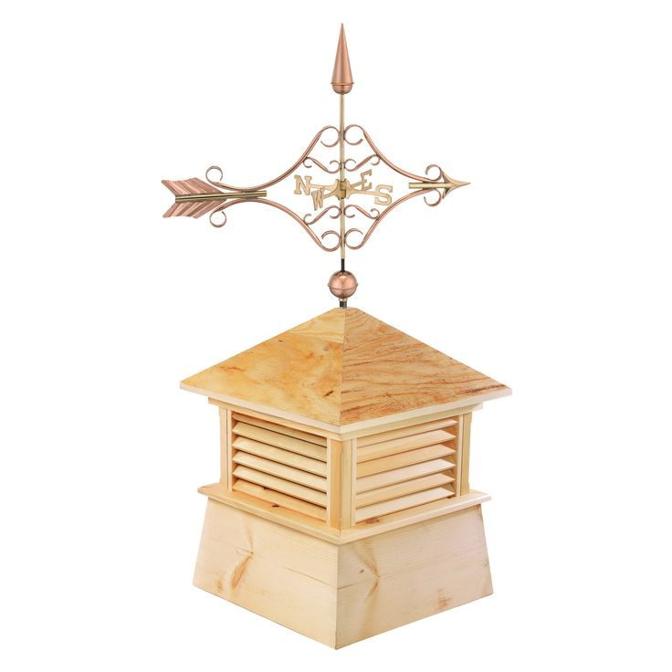 Good Directions 30 in. Square Kent Wood Cupola with Standard Victorian Arrow - 2130K-9642P