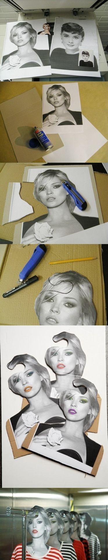 Para que no te olvides nunca de su rostro, haz unas perchas personalizadas