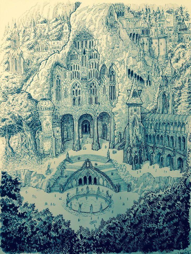 The great kingdom of Doriath. by DracarysDrekkar7.deviantart.com on @DeviantArt