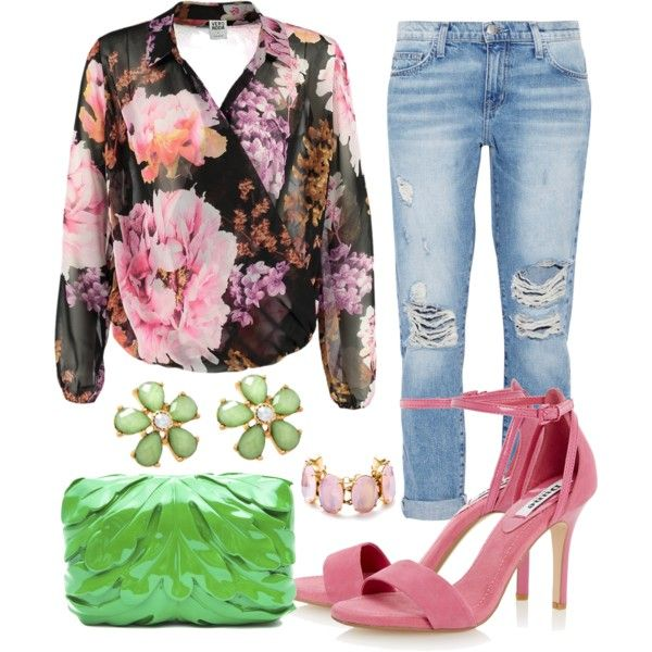 casual with flowers