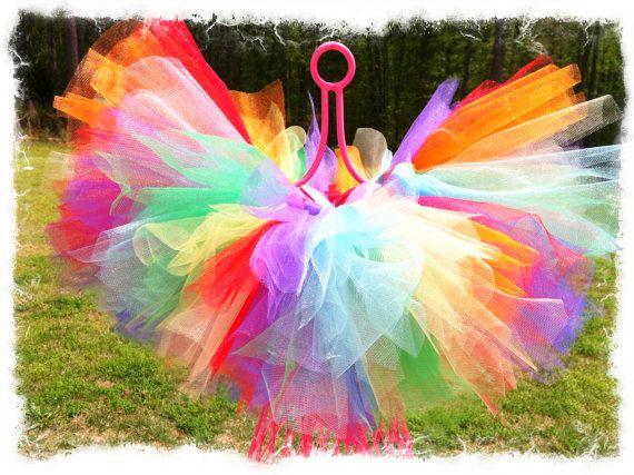 Rainbow TuTu-TuTu Skirt-Red, Blue,Yellow,Orange,Green TuTu,Birthday TuTu Skirt-Girls Birthday TuTu-SZ 2T-6 on Etsy, $29.95