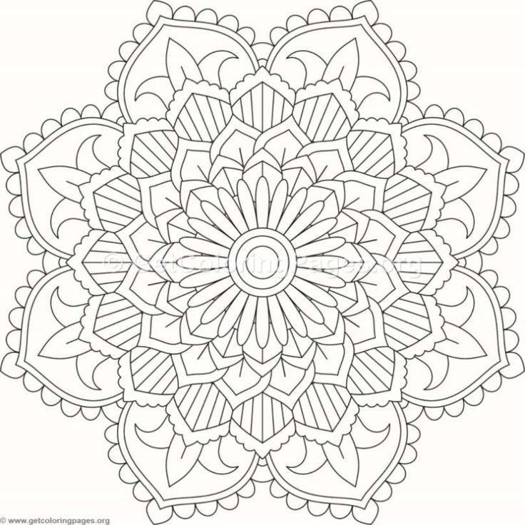 Malvorlagen Blumenmandala 360 Getcoloringpages Org Mandala