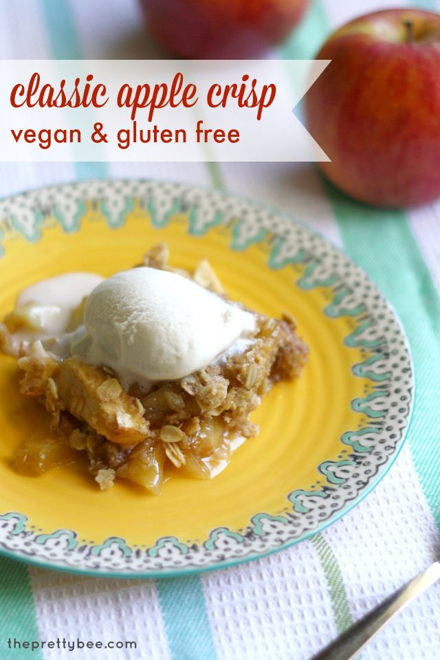Gluten Free and Vegan Apple Crisp.