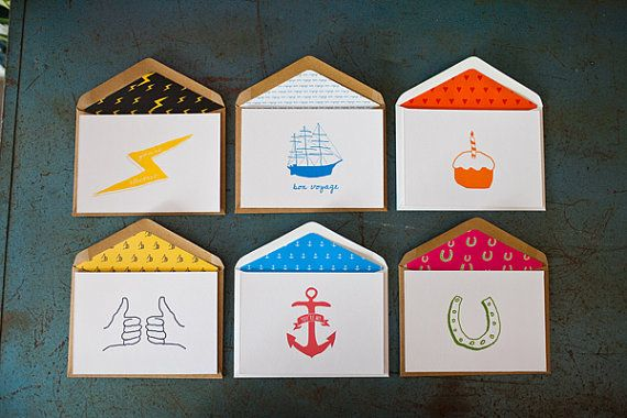 Letterpress Greeting Cards {set of 6} by LittlePeachCo on Etsy, $25.00