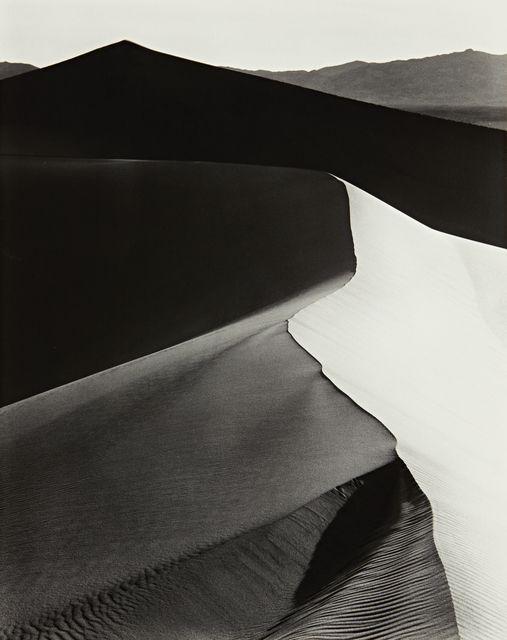 Ansel Adams, Sand Dunes, Sunrise, Death Valley National Monument, California, c. 1948 (ca. 1948) | Artsy