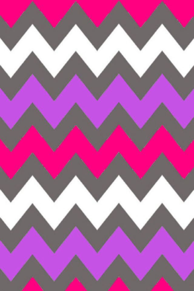 Whit purple and hot pink chevron | iPhone backgrounds ...