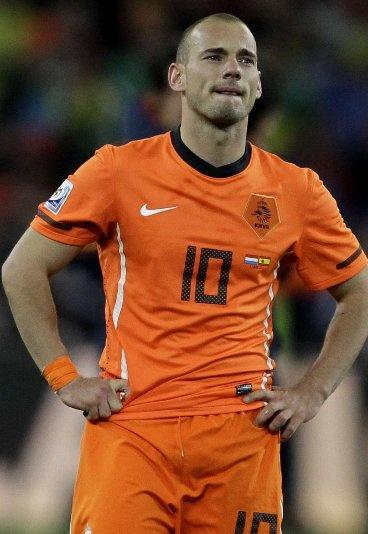 Wesley Sneijder, centrocampista, Países Bajos