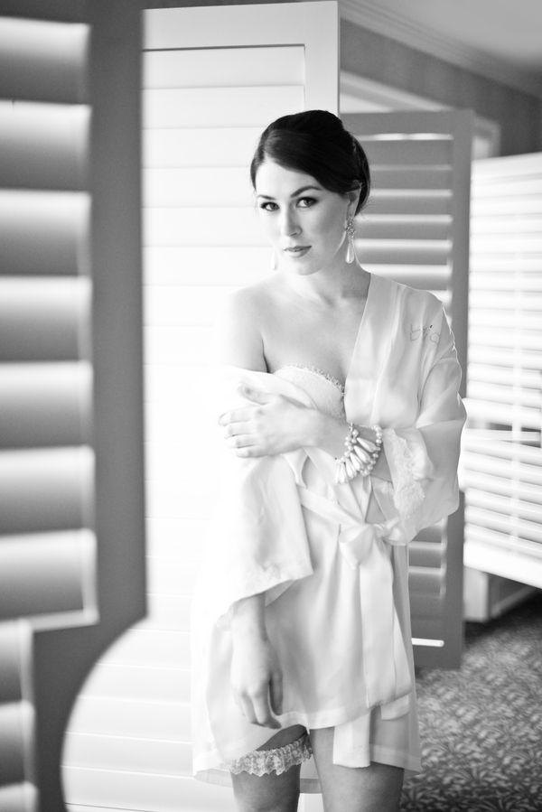 Timeless black and white boudoir