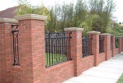 contoh pagar tembok samping rumah gaya klasik rumah
