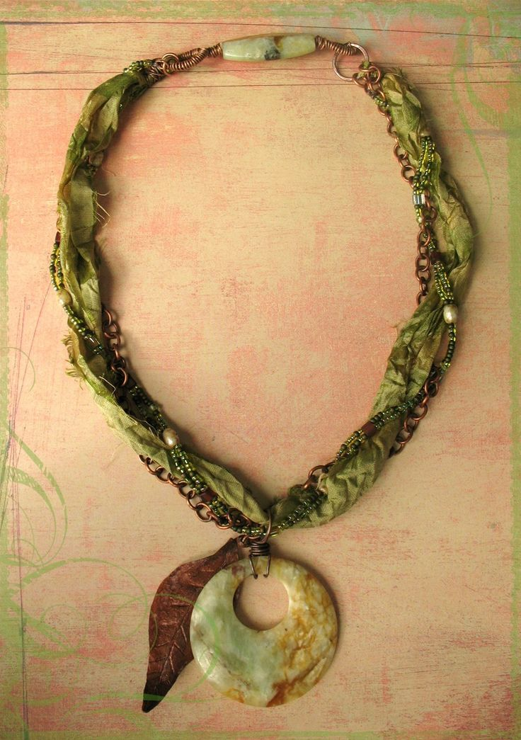 Beautiful Fiber Necklace
